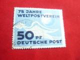 Serie 75 Ani UPU 1949 DDR 1 valoare stampilata, Stampilat