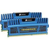 Memorie Corsair CMZ16GX3M2A1600C10B Vengeance Blue, 16GB (2x8GB) DDR3 1600MHz CL10
