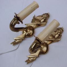 Frumoase doua aplice din bronz  de provenienta suedeza