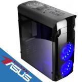 Sistem desktop Express Pro Powered by ASUS AMD Bristol Ridge A10-9700 Quad Core 3.5 GHz 8GB DDR4 120GB SSD 500GB HDD FreeDos Black