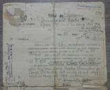 Titlul de pensiune// act emis de Ministerul de Rasboiu, anii '20