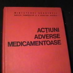 ACTIUNI ADVERSE MEDICAMENTOASE-PROF.GH. PANAITESCU-EMILIA A. POPESCU-382 PG-, Alta editura
