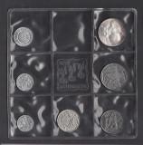 A4924 Mint Set San Marino 1973 lire 1 2 5 10 50 100 500 Argint