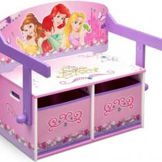 Mobilier 2 in 1 pentru depozitare jucarii Disney Princess, Multicolor
