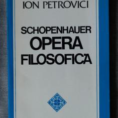 Ion Petrovici - Schopenhauer. Viața și opera