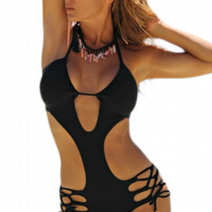 SW1046-1 Costum de baie monokini cu decolteu adanc in V, M/L