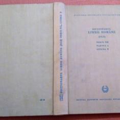 Dictionarul Limbii Romane (DLR). Tomul VII Partea 1 Litera N - Editura Academiei, Alta editura