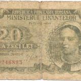 Bancnota 20 lei - 15 Iunie 1950