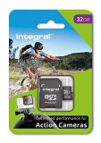 Card memorie Integral micro SDHC/SDXC pentru Card Action Camera (testat cu GoPro), 32GB