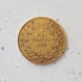 Franta 20 Francs 1856 Napoleon III  aur, Europa