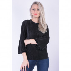 Bluza Eleganta Pieces Vella 3/4 Negru, L, M, S, XL, XS