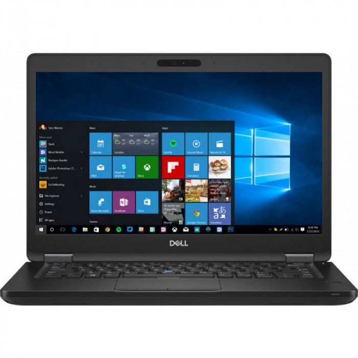 Laptop Dell Latitude 5490 14 inch FHD Intel Core i7-8650U 16GB DDR4 256GB SSD Windows 10 Pro Black