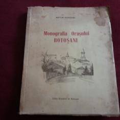 ARTUR GOROVEI - MONOGRAFIA ORASULUI BOTOSANI 1926