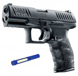 Pistol Airsoft CO2 Walther PPQ M2 6mm 22bb 1J + Lanterna cadou