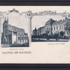 SALUTARI DIN BUCURESTI  LEGATIUNEA AUSTRO-UNGARA CATEDRALA ST. JOSEPH  CLASICA, Necirculata, Printata