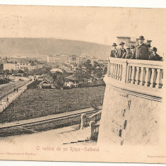 * IASI - O VEDERE DE PE RAPA GALBENA - circulata 1904, Printata