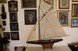 Corabie, macheta din lemn