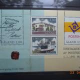 1993  Aland Mi - bloc 2**, Nestampilat