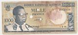 CONGO 1000 FRANCS FRANCI 1964 ANULATA F