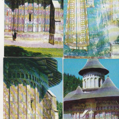 Bnk cp Manastirea Voronet - lot 8 cp necirculate, Necirculata, Printata