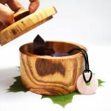 Cutie cu capac si maner lucrata manual din lemn masiv de artar