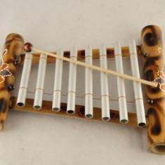 Xilofon bambus 8 tuburi aluminiu, pictat