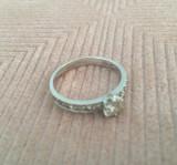 Inel din aur alb cu diamante!