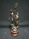 Sculptura,statueta veche din antimoniu