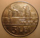 2.363 ROMANIA RSR 3 LEI 1966 EROARE FARA I SOCIALISTA