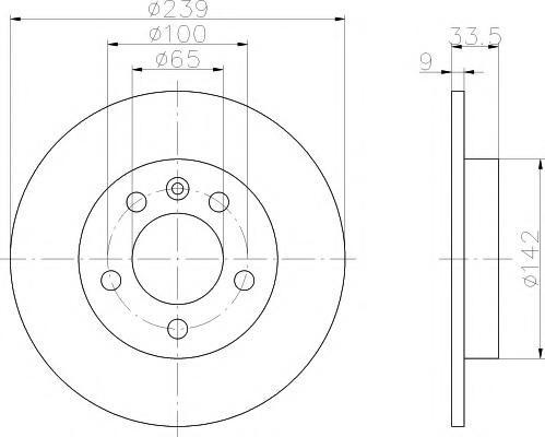 Disc frana VW GOLF Mk IV 1.9 TDI 4motion - TEXTAR 92105803