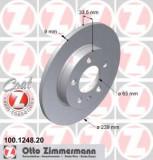 Disc frana VW GOLF Mk IV 1.9 TDI 4motion - ZIMMERMANN 100.1248.20