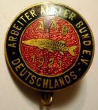 I.793 GERMANIA INSIGNA PESCAR PESCUIT ARBEITER ANGLER BUND E.V. DEUTSCHLANDS, Europa