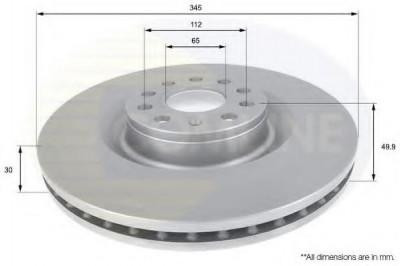 Disc frana VW GOLF VI 2.0 R 4motion - COMLINE ADC1469V foto