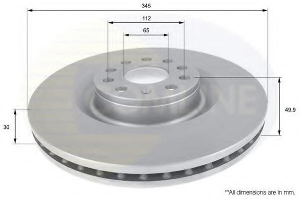 Disc frana VW GOLF VI 2.0 R 4motion - COMLINE ADC1469V