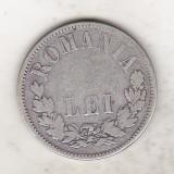 bnk mnd Romania 2 lei 1875 , argint
