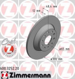 Disc frana VW GOLF VII 1.4 TSI - ZIMMERMANN 600.3252.20
