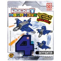 Vehicul transformabil Cifra 4 Avion Pocket Morphers