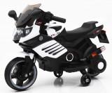 SUPER MOTOCICLETA ELECTRICA PT.COPIII,REPLIKA BMW CU ACUMULATOR,ROTI AJUTATOARE., 2-4 ani, Unisex, Alb