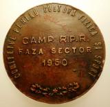5.247 ROMANIA RPR MEDALIE CAMPIONAT FAZA SECTOR SPORT INOT 1950 50mm