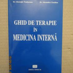 GHID DE TERAPIE IN MEDICINA INTERNA-dr. Gheorghe Teodorescu