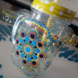 Hand-painted lemonade jars