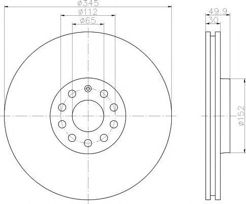 Disc frana VW GOLF VI 2.0 R 4motion - MINTEX MDC1718