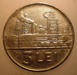 2.354 ROMANIA RSR 3 LEI 1966