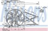 Ventilator, radiator OPEL ASTRA G hatchback 1.6 - NISSENS 85185