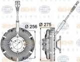 Cupla, ventilator radiator DAF XF 105 FT 105.460 - HELLA 8MV 376 734-781