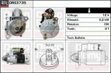 starter RENAULT MASTER II Van 2.5 D - DELCO REMY DRS3735