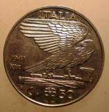 2.377 ITALIA WWII VITTORIO EMANUELE III 50 CENTESIMI 1941 MAGNETIC, Europa