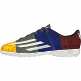 Ghete Fotbal Adidas F5 IN Junior Messi M21774, 37 1/3, Galben, Copii