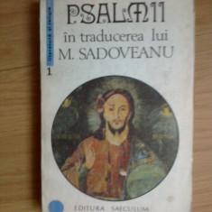 D10 Psalmii In traducerea lui M. Sadoveanu
