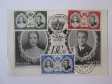 Carte postala maxima 150 x 98 mm casatoria printului Rainier cu Grace Kelly'56, Necirculata, Fotografie, Europa